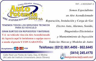 AUTO POTENCIA 2000, C.A. en Paginas Amarillas tu guia Comercial