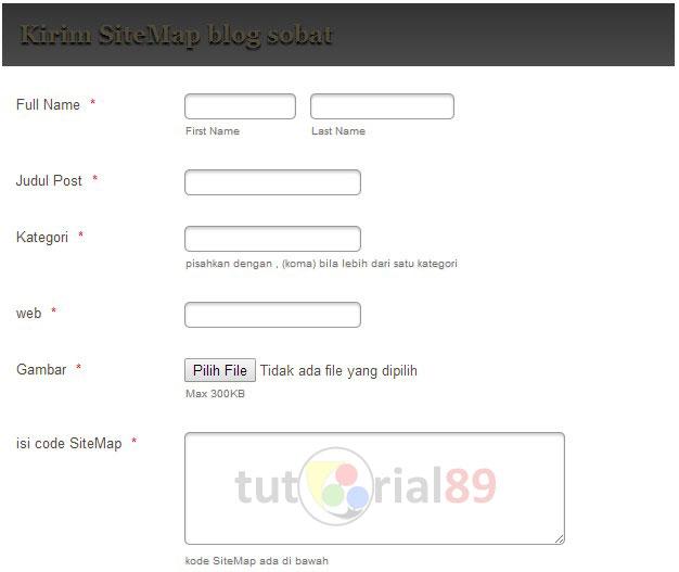 Cara membuat laman submit artikel di blog