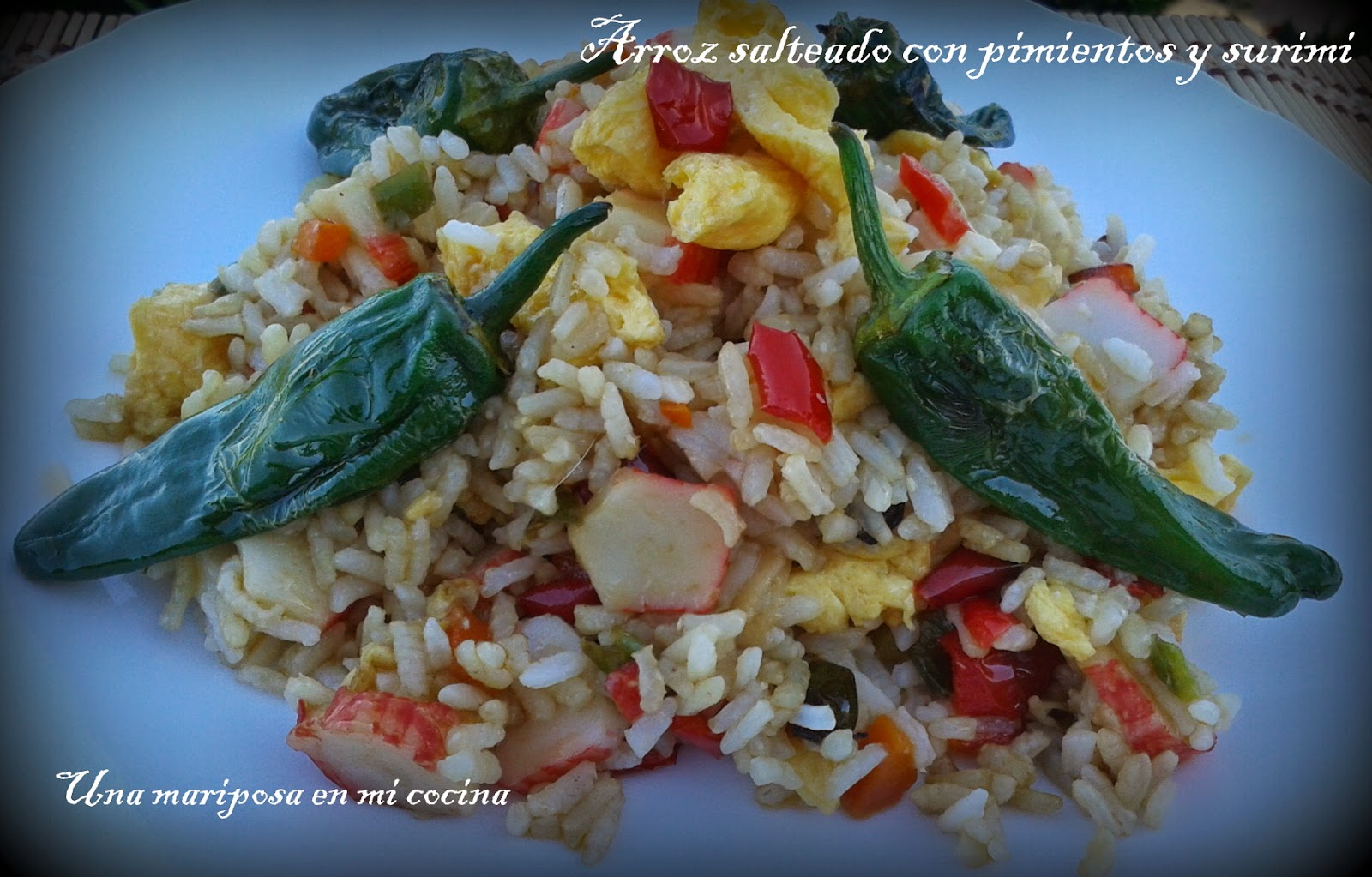 Arroz salteado con pimientos y surimi recetas de cocina - Salteado de arroz ...
