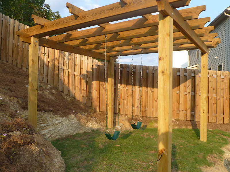 only from scratch diy pergola swingest for the backyard