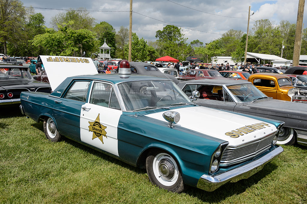 Vintage Police Car at the Jalopy Showdown
