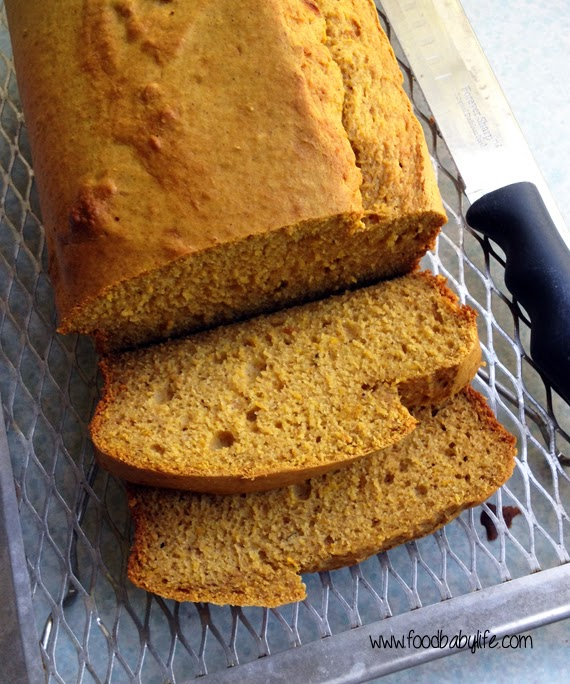Pumpkin Banana Bread sliced © www.foodbabylife.com