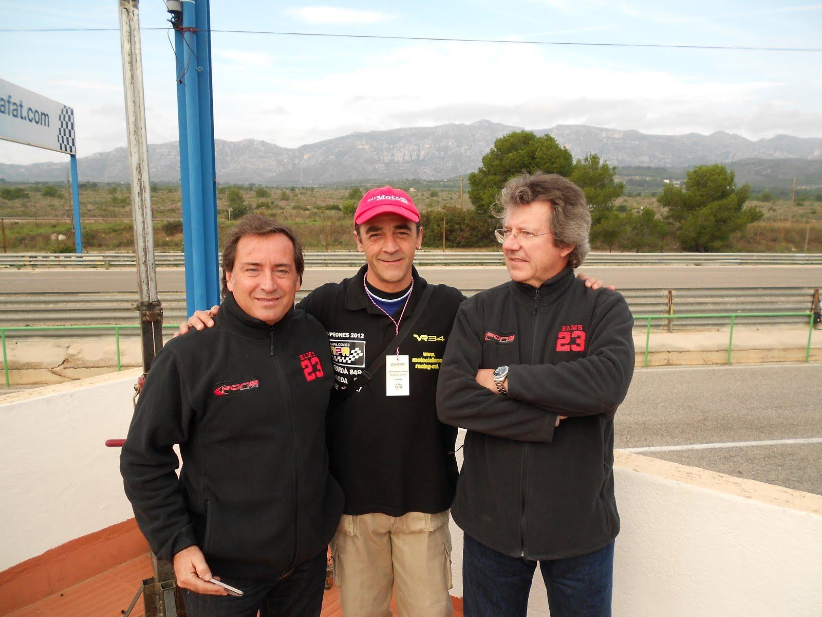 Con Sito Pons y Santi Mulero