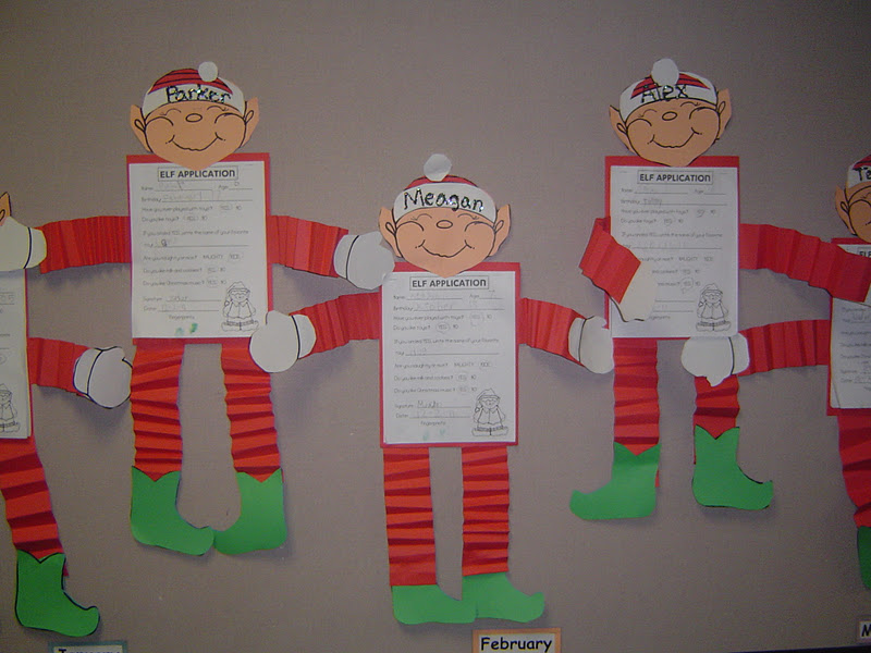 Mrs t 39 s first grade class elf on the shelf for 3rd grade christmas craft ideas