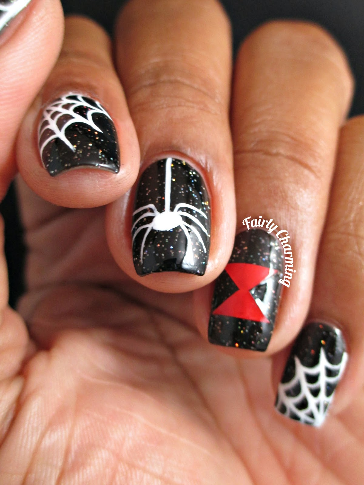 Colors Used Painted Polish Black Widow Baby And Acrylic Paint