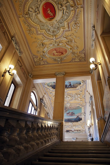 palazzo parisio grand staircase marble ornate ceiling