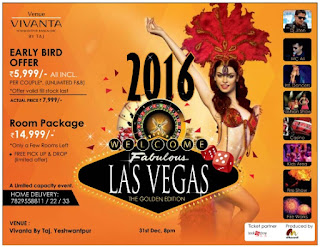New year 2016 Event offer in Vivanta by Taj Bangalore
