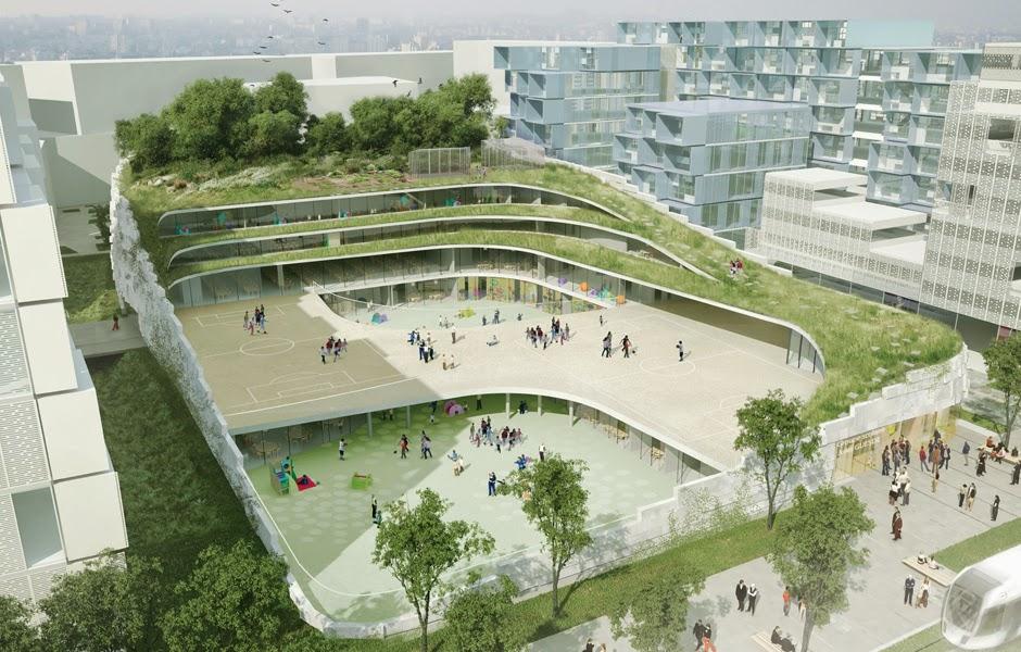 podio chartier dalix architectes crea una escuela ecol gica. Black Bedroom Furniture Sets. Home Design Ideas