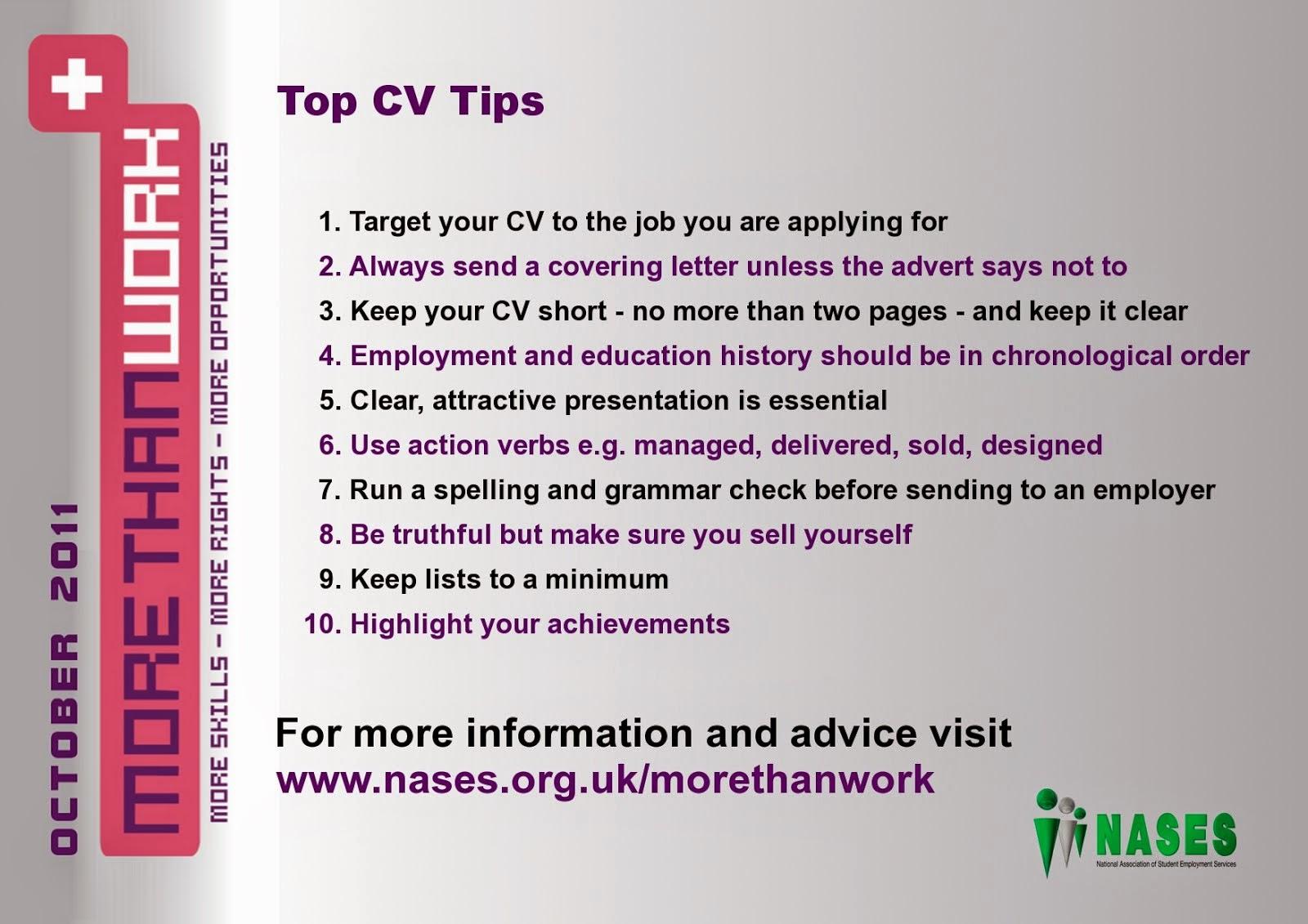 Top CV Tips