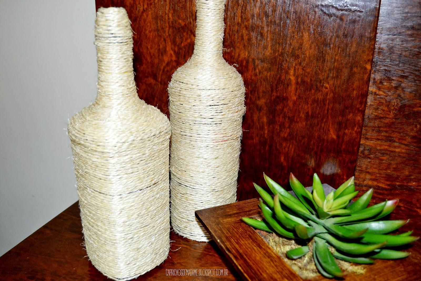 DIY Decoração com garrafas