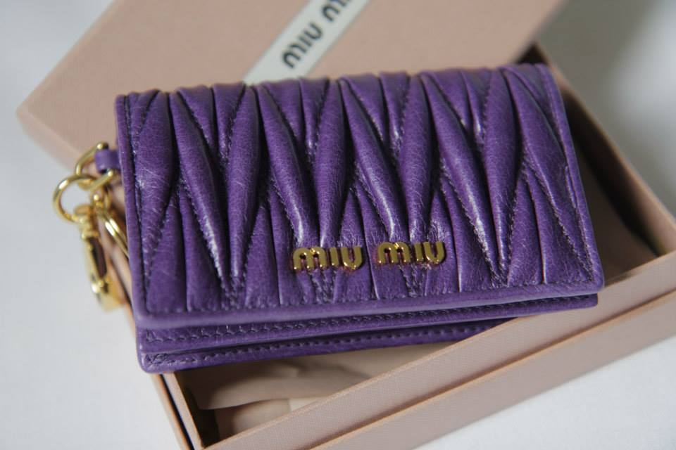 Miu Miu Matelasse Card Holder