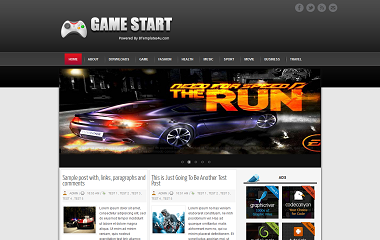 Game Start Blogger Template