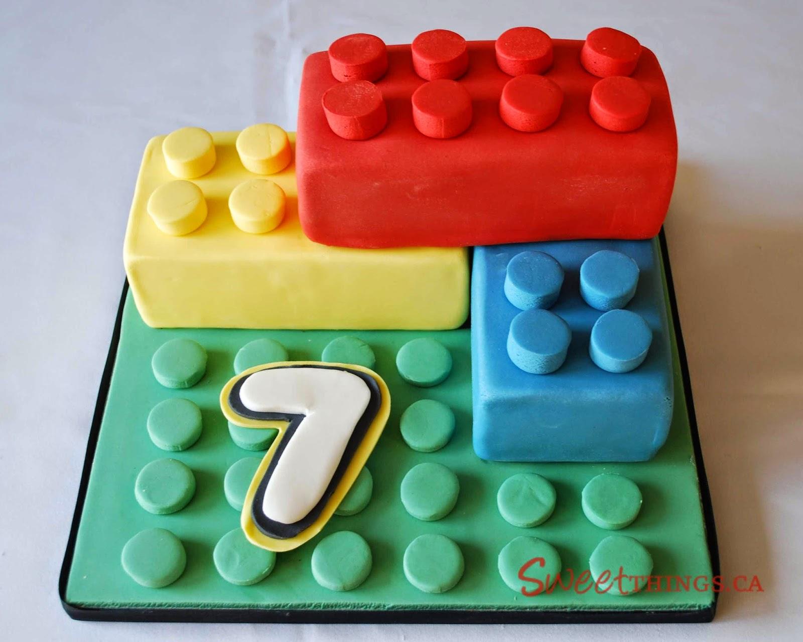 Lego Themed Birthday Party Cakes