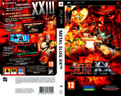 Jogo Metal Slug XX PSP DVD Capa