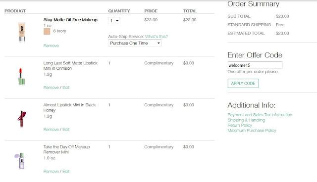 Compras en USA: Clinique (código descuento y gastos de envío gratis)
