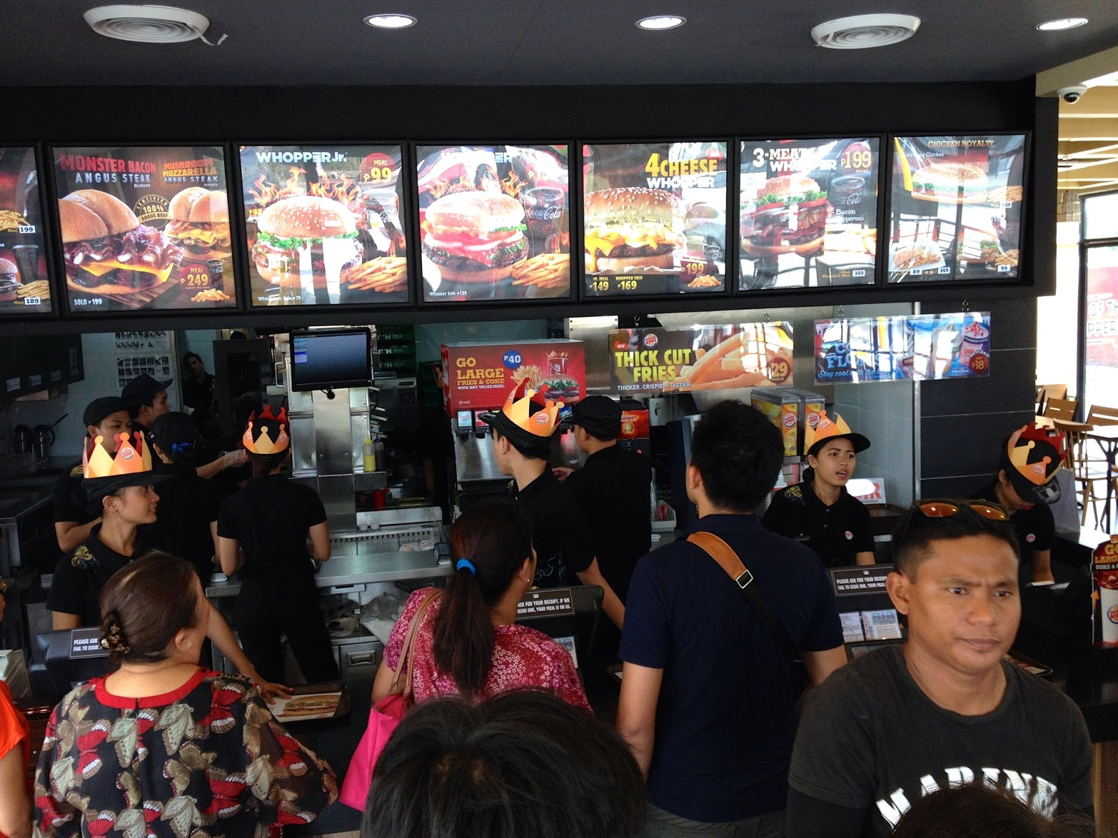 Whopper hunting in Cebu