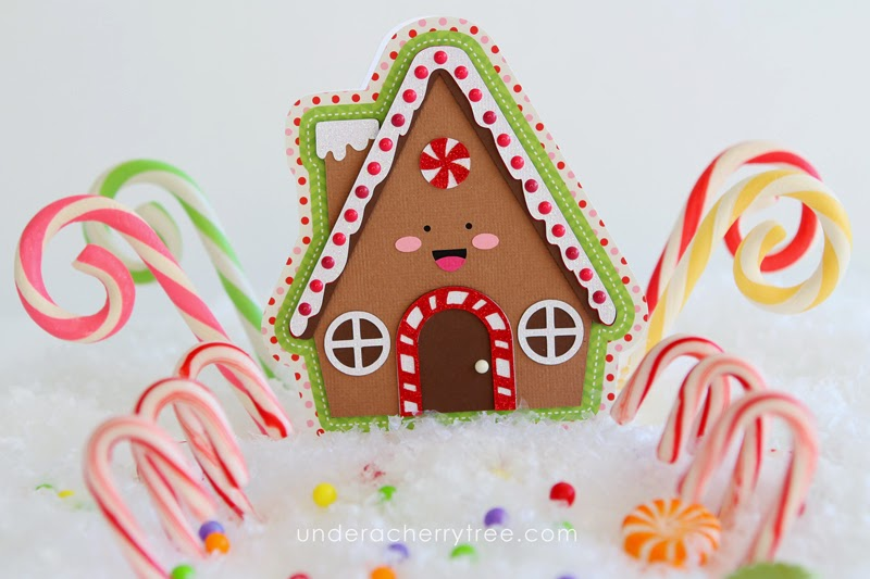 http://underacherrytree.blogspot.com/2014/12/jins-gingerbread-house-shaped-card.html
