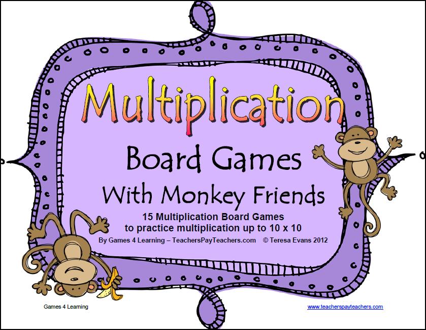 Math Board Games Printable aprita – Multiplication Games Worksheet