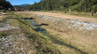 Área próxima ao local da construção do Parque Fluvial pelo INEA na Posse em Teresópolis RJ