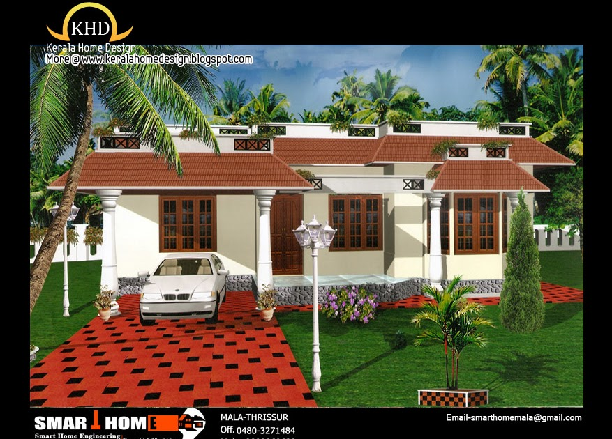 Single Floor Elevation Usa : Single floor house plan and elevation sq ft