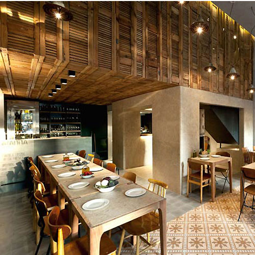 Village Interior Pizzeria Modern Restaurant Design