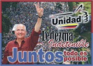 Con Ledezma, juntos todo es posible...