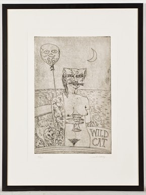 John Bellany, WILDCAT, etching on paper, mctears, auction