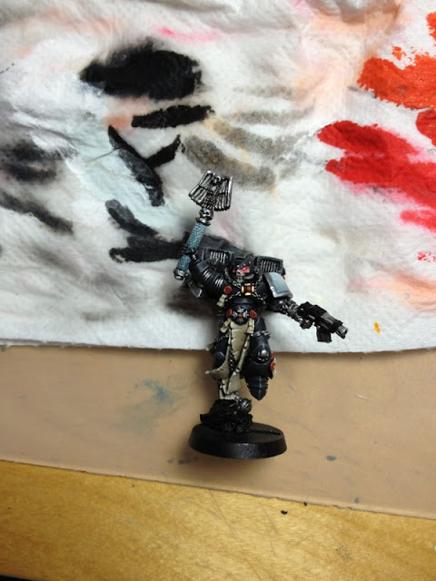 chaplain of the Warhammer 40k Raven Guard Space Marines