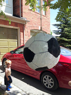 Soccer ball pinata, soccer party, kids party, birthday party, paper mache pinata