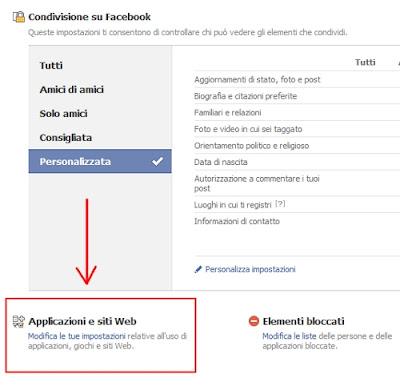 bloccare giochi e applicazioni facebook