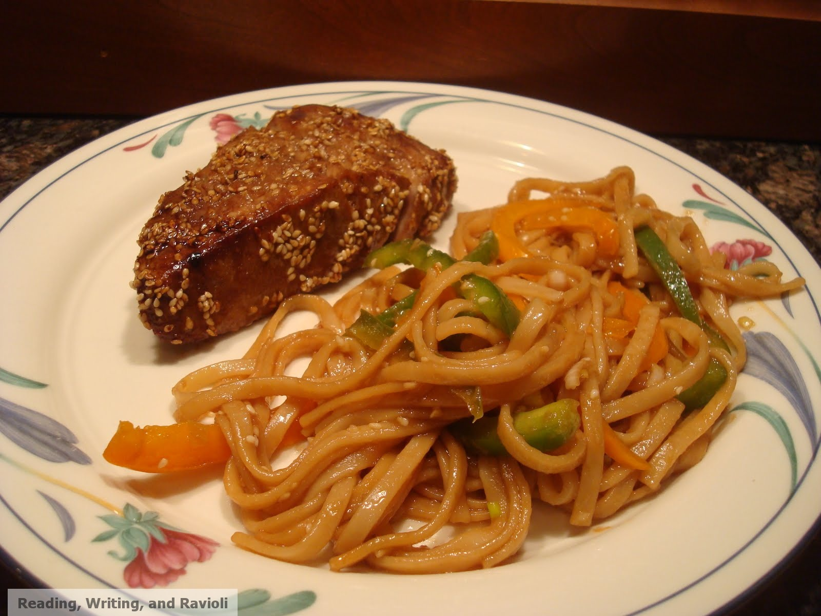 ... , Writing, and Ravioli: Recipe: Sesame Seared Tuna with Udon Noodles