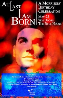 The Sons and Heirs (Smiths Tribute Band) Play A Morrissey Birthday Celebration at The Bell House on May 22nd