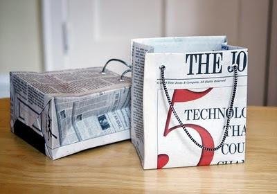 Bolsas con papel de regalo reciclado por Recicla Inventa