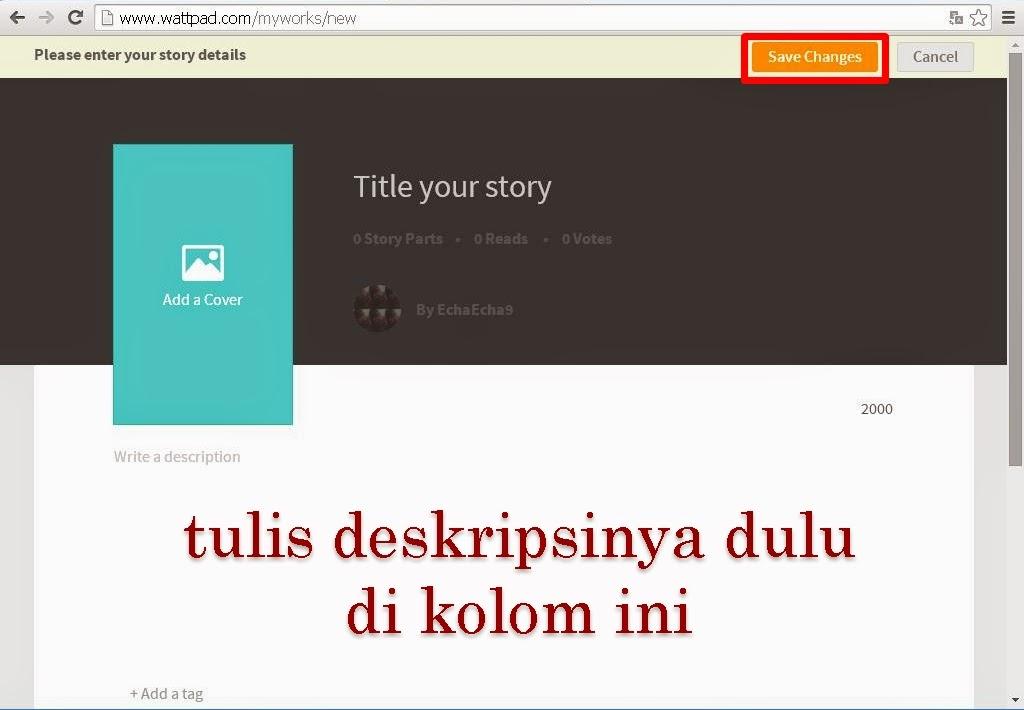 Lira Blog S Cara Post Cerita Di Wattpad