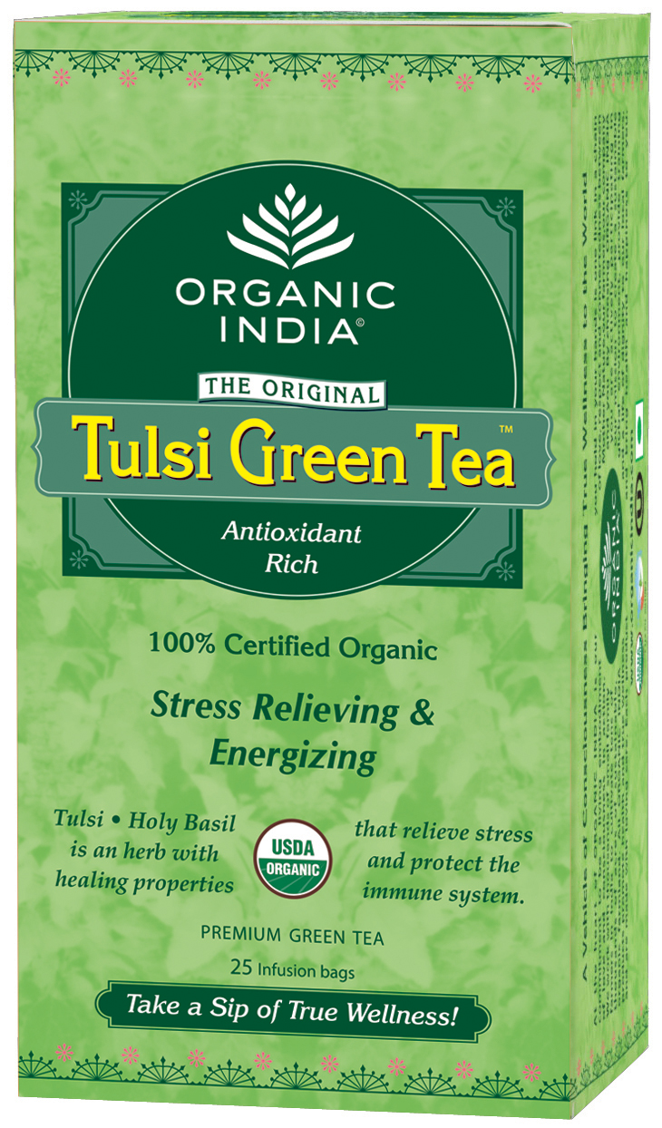 Flat 5% off on Organic India Tulsi Green 25 Tea Bags Box