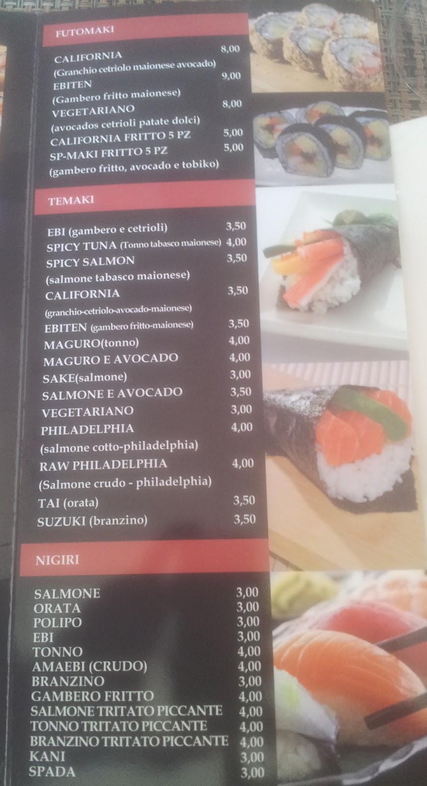 Menu e prezzi ristorante giapponese kyto a milano in - Sushi porta ticinese ...