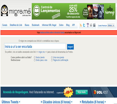 encurta links migre-me