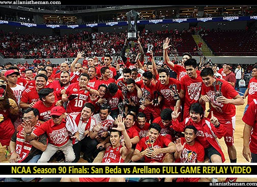 NCAA Season 90 Finals: San Beda vs Arellano FULL GAME REPLAY VIDEO