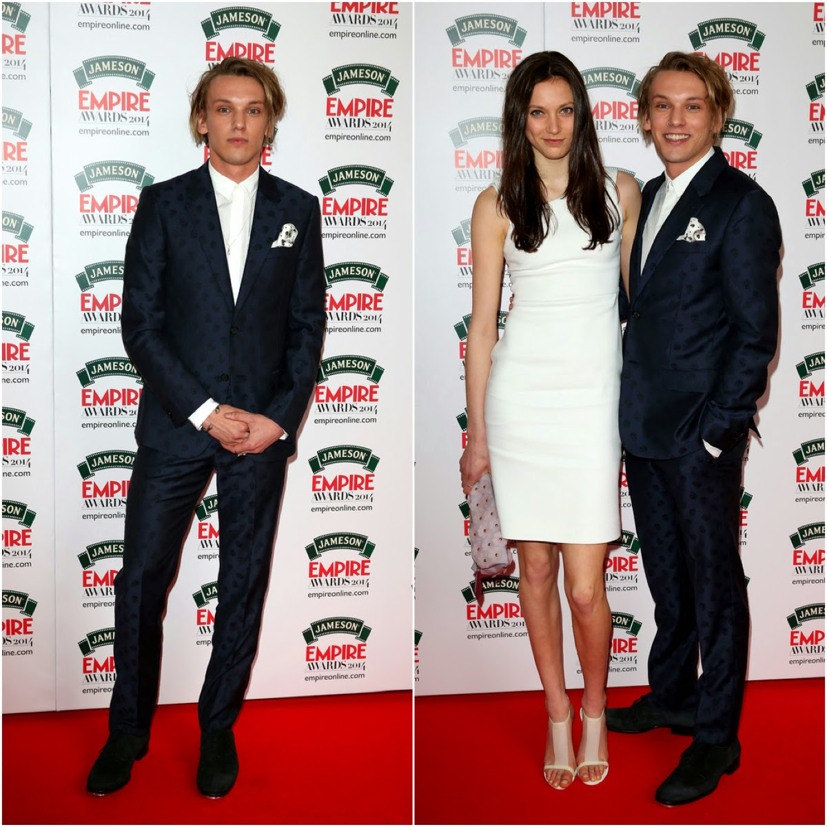 Jamie Campbell Bower in Alexander McQueen - Jameson Empire Awards 2014