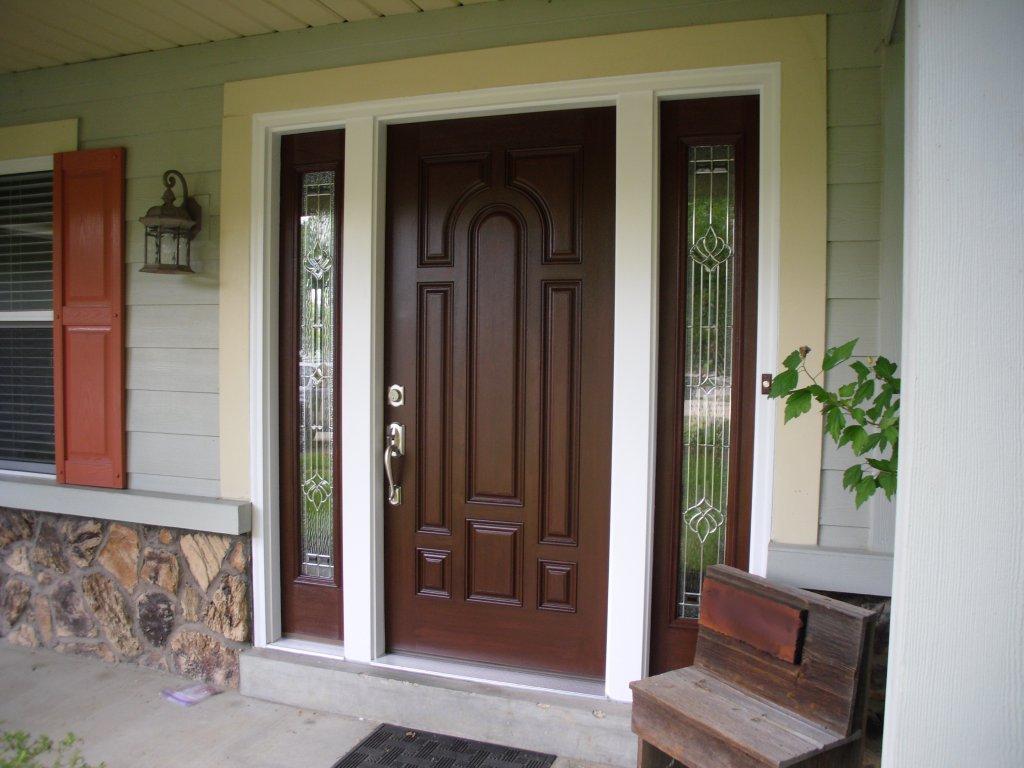 Single Exterior Doors Door Fsc Solid Mahogany Craftsman Lite
