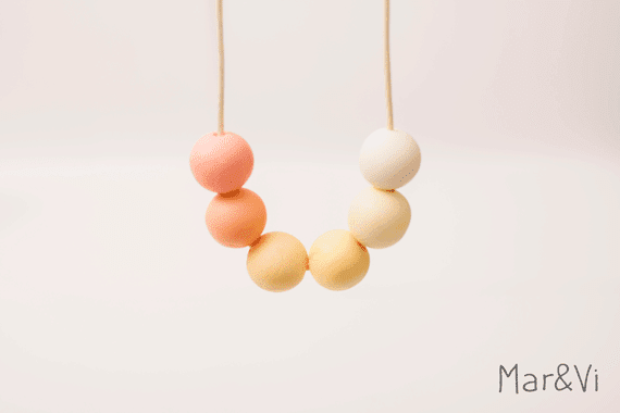 diy: un collar en colores pastel con fimo