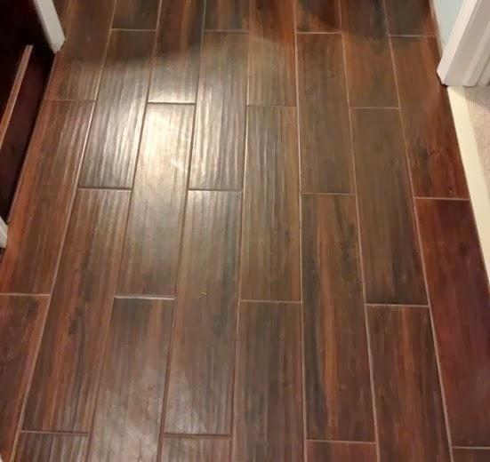 Choosing tile flooring looks like wood in dining room for How to choose floor tile