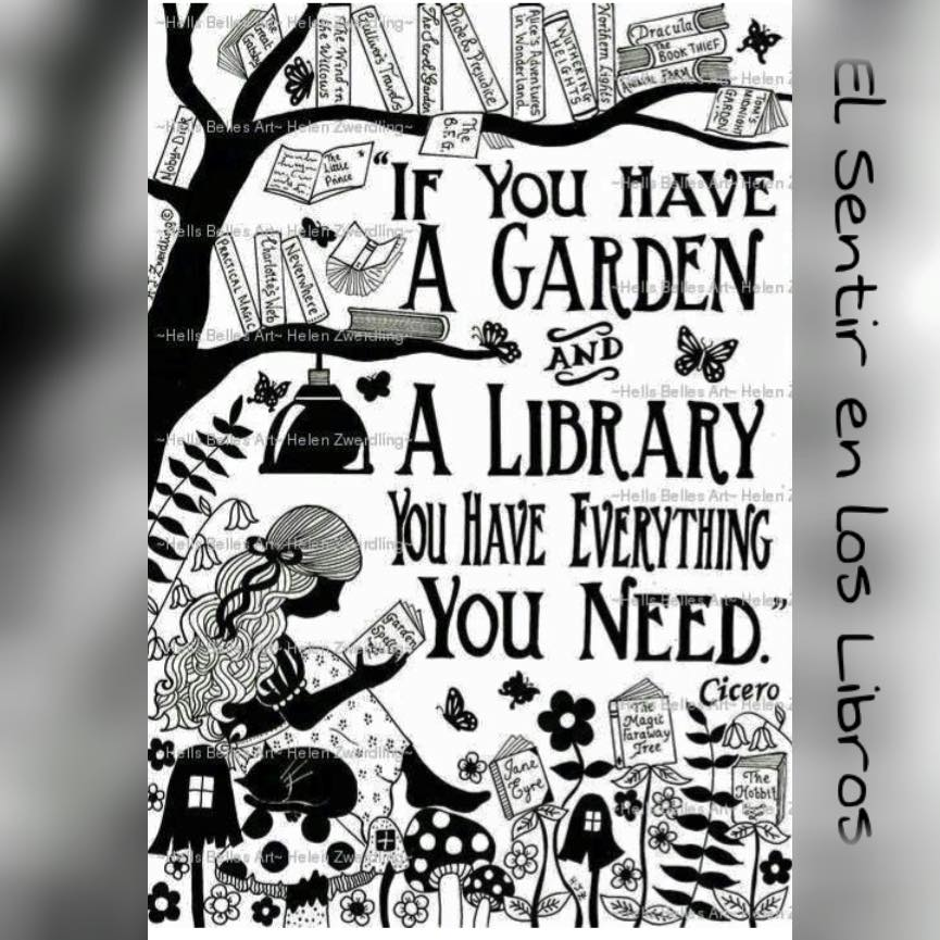 Garden and books