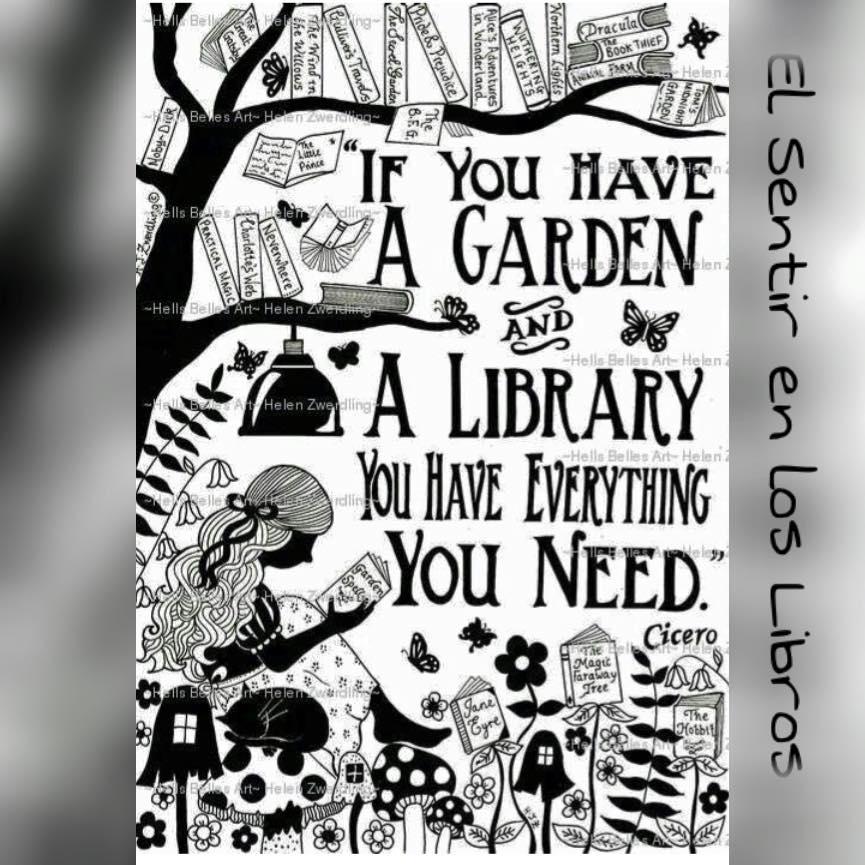 Garden and books