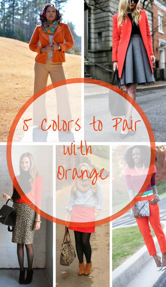 5 colors to pair with orange