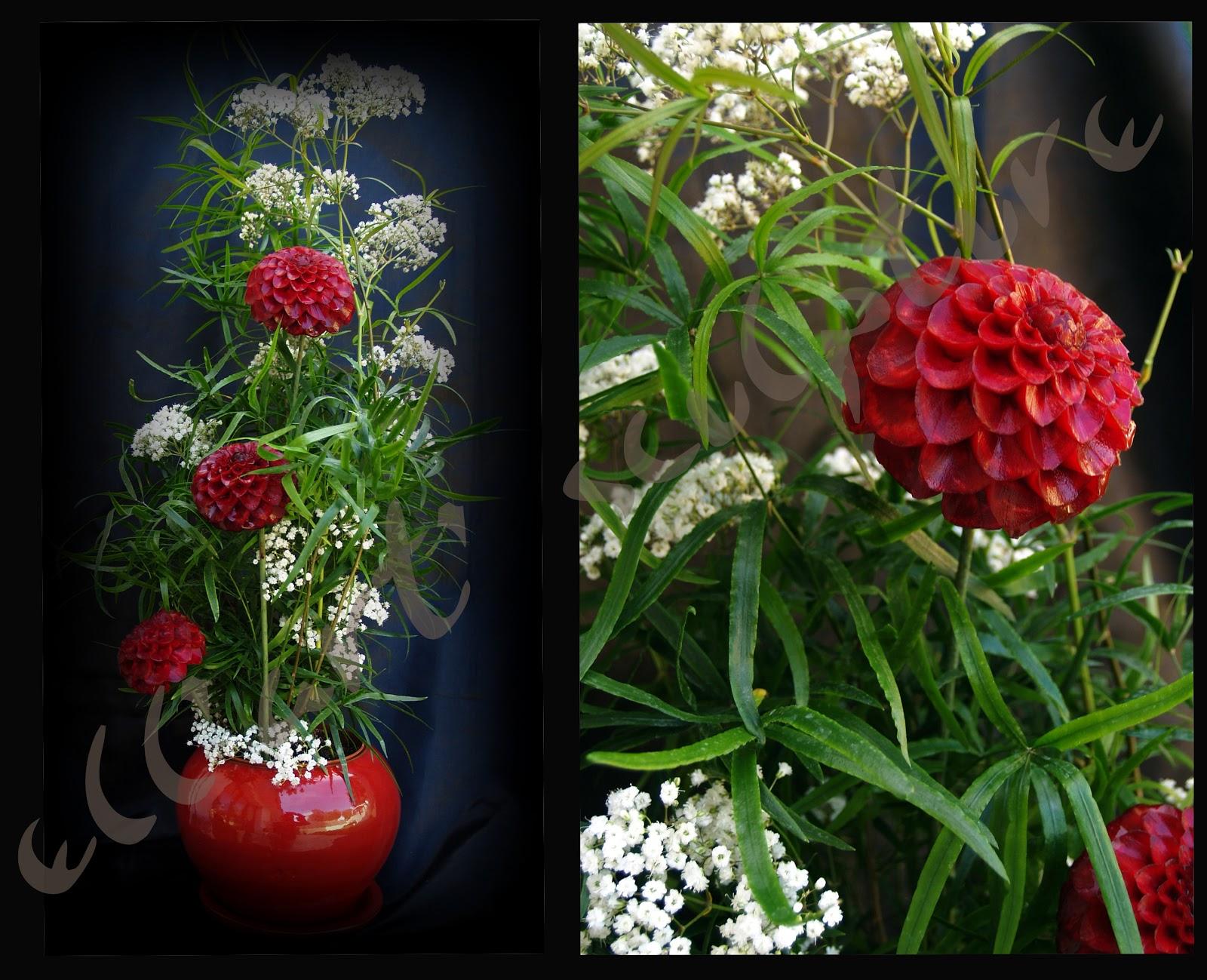 Ellart reynald sculpteur sur fruits et legumes composition florale - Composition florale avec fruits legumes ...