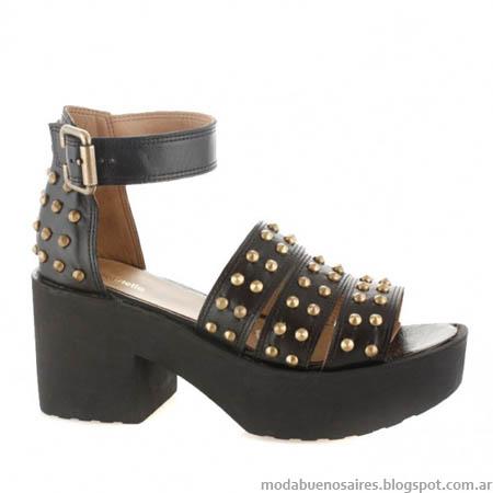 Sandalias con tachas 2014 moda verano 2014 Batistella.