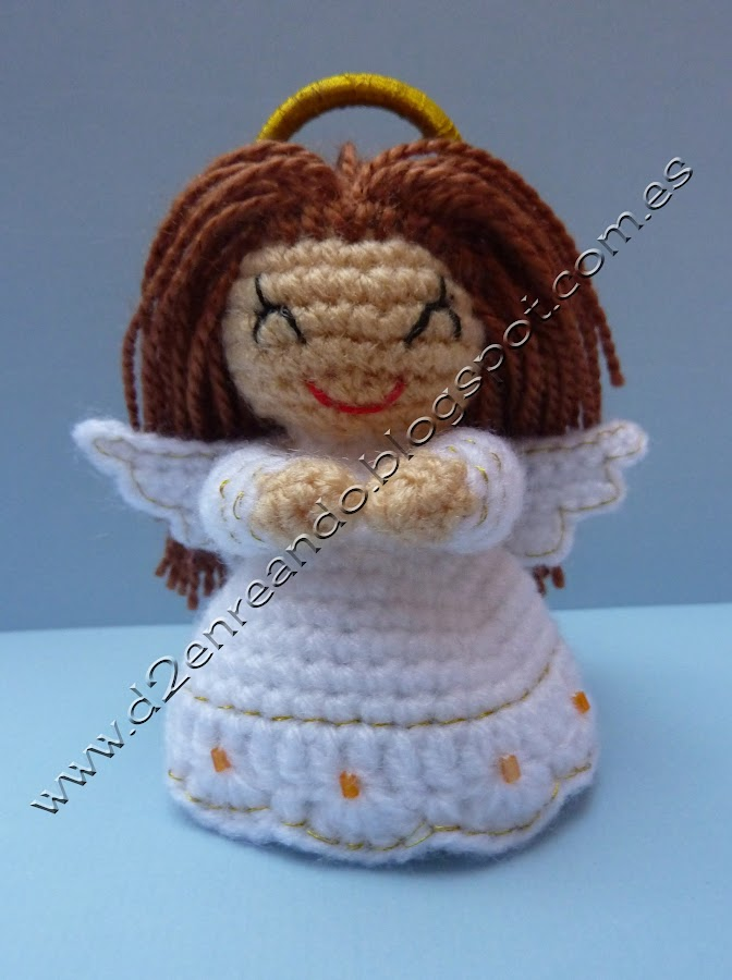 Crochet angel - Angeles de navidad manualidades ...