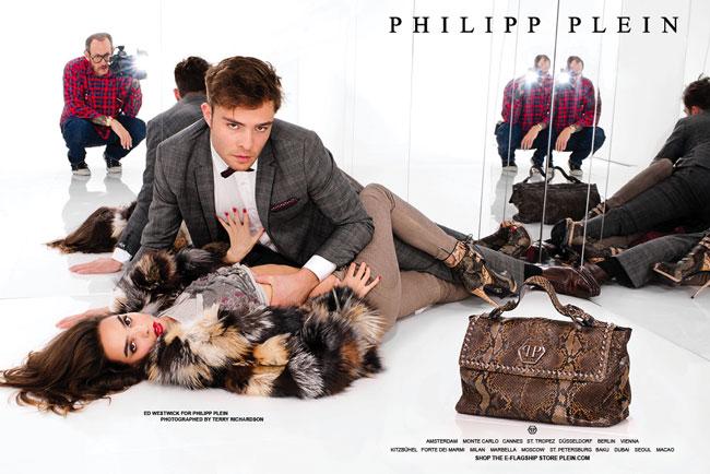 Ed Westwick for Philipp Plein