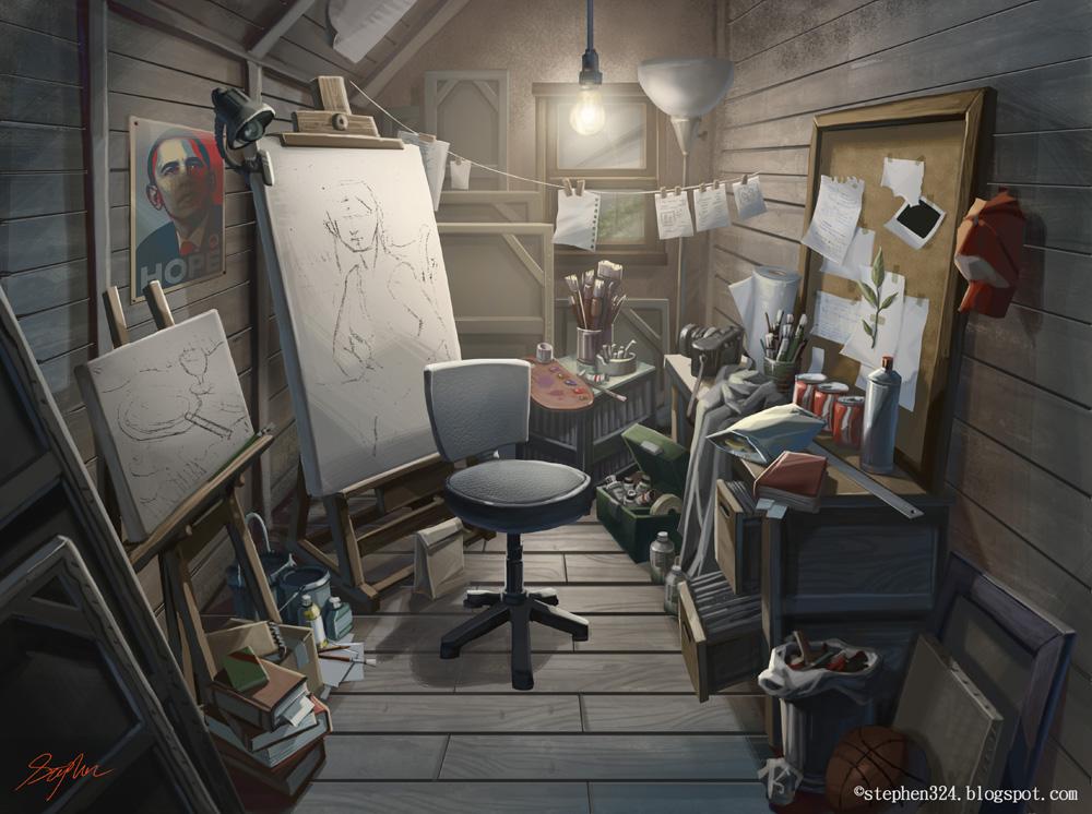 Stephen tsai layout design artist 39 s room for Room design art